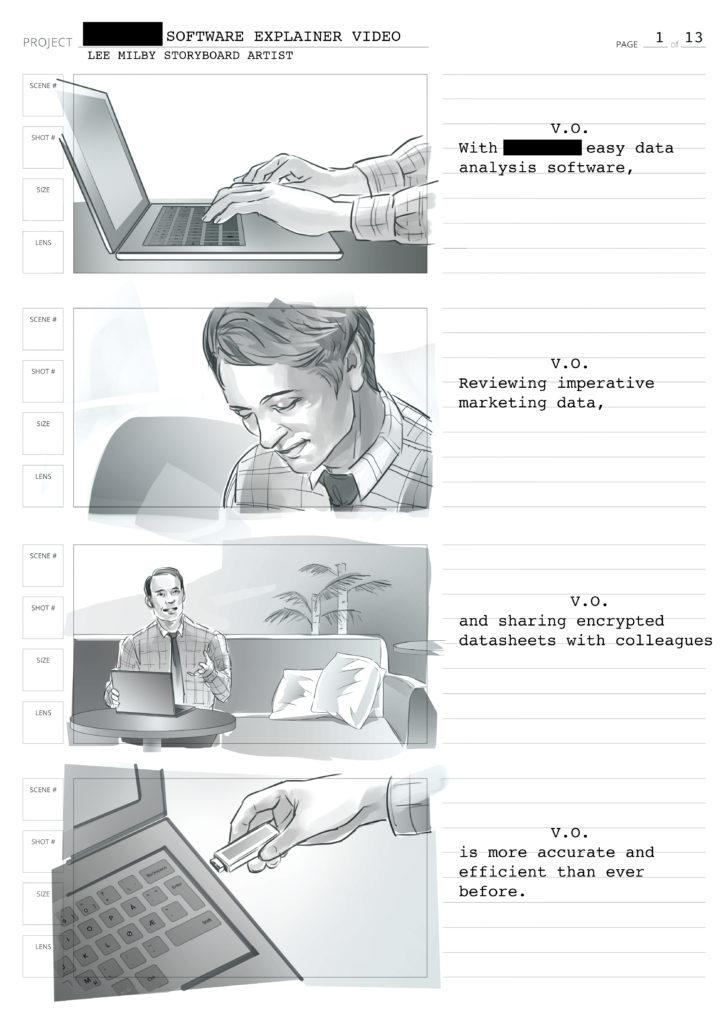 Storyboard artist and illustrator – Original art by Lee Milby