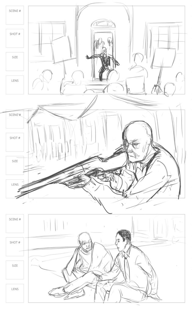 storyboard art for zombie movie nyc