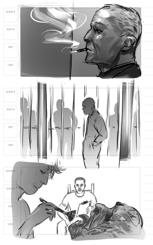 storyboard art for zombie movie