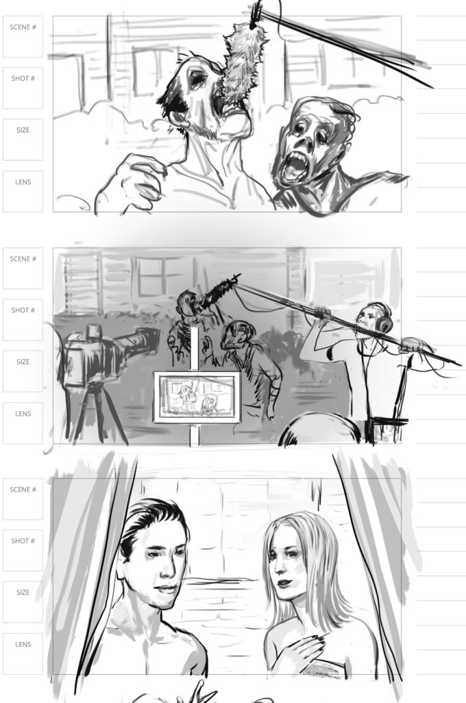 storyboard artist for zombie movie