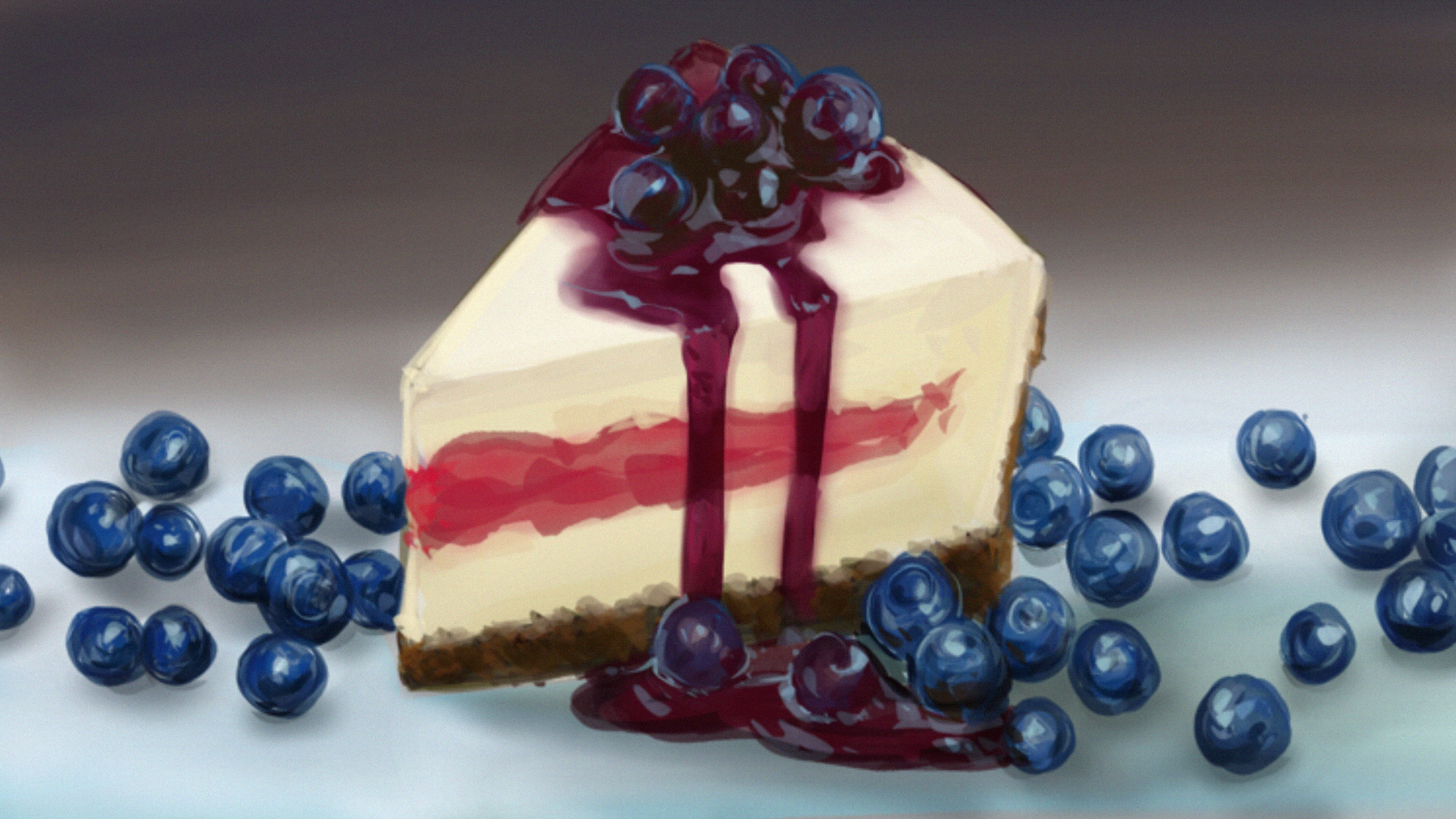 Cake drawing/painting study in procreate